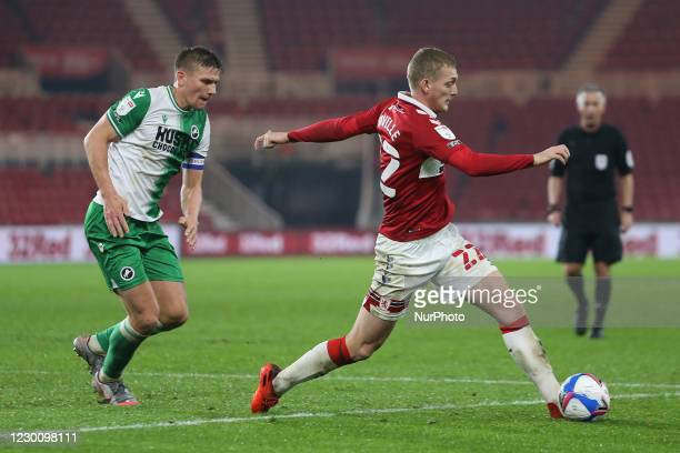 George Saville of Middlesbrough during the Sky Bet Championship match between Middlesbrough and Millwall at the Riverside Stadium, Middlesbrough on...