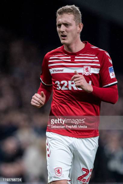 George Saville of Middlesbrough FC looks on during the FA Cup Third Round Replay match between Tottenham Hotspur and Middlesbrough FC at Tottenham...