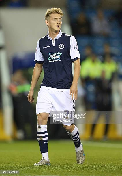 George Saville of Millwall in action during the Johnstone's Paint Trophy Second Round match between Millwall and Northampton Town at The Den on...