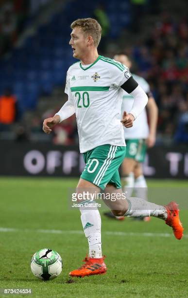 George Saville of Northern Ireland during the FIFA 2018 World Cup Qualifier PlayOff Second Leg between Switzerland and Northern Ireland at St...