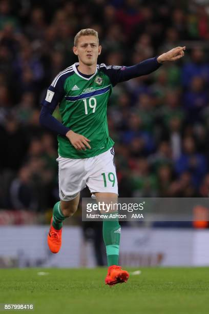 George Saville of Northern Ireland in action during the FIFA 2018 World Cup Qualifier between Northern Ireland and Germany at Windsor Park on October...