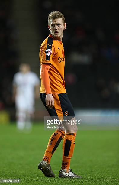 George Saville of Wolverhampton Wanderers in action during the Sky Bet Championship match between Milton Keynes Dons and Wolverhampton Wanderers at...