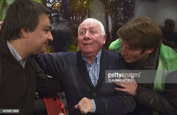 George Schindler greets members of the public attending the launching of the book La Lista de Schindler Chileno written by Manuel Salazar Salvo on...
