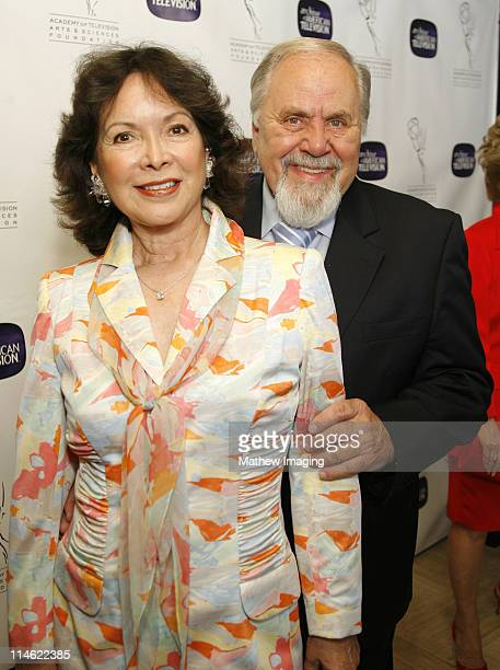 George Schlatter and Jolene Schlatter during 10th Anniversary of The Archive of American TV Red Carpet and Inside at Crustacean in Beverly Hills...