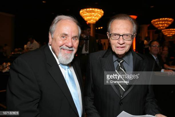 George Schlatter and Larry King during Juvenile Diabetes Research Foundation Annual Gala at Beverly Hilton Hotel in Beverly Hills California United...