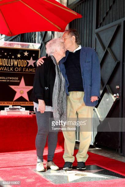 George Segal and Sonia Schultz Greenbaum Attend a Ceremony Honoring George Segal With Star On The Hollywood Walk Of Fame on February 14 2017 in...