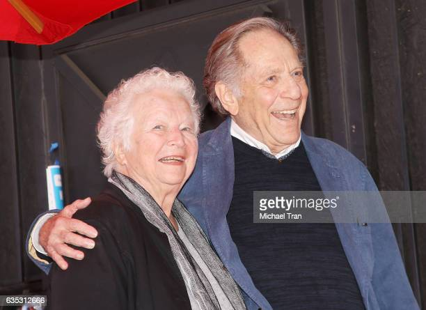 George Segal and Sonia Schultz Greenbaum attend the ceremony honoring George Segal with a Star on The Hollywood Walk of Fame held on February 14 2017...