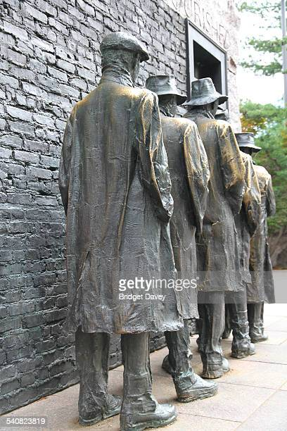 George Segal's sculptures the Bread Line symbolising the Great Depression and Poverty at the Franklin Delano Roosevelt or FDR Memorial in Washington...