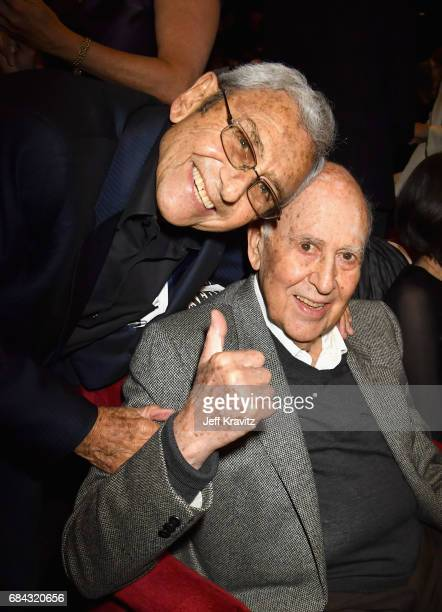 George Shapiro and Carl Reiner at the LA Premiere of If You're Not In The Obit Eat Breakfast from HBO Documentaries on May 17 2017 in Beverly Hills...