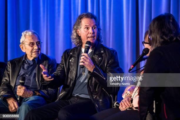 George Shapiro Terry Wollman Aimee Hyatt and Scott Goldman speak at The GRAMMY Museum on January 18 2018 in Los Angeles California