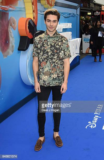George Shelley arrives for the UK Premiere of 'Finding Dory' at Odeon Leicester Square on July 10 2016 in London England