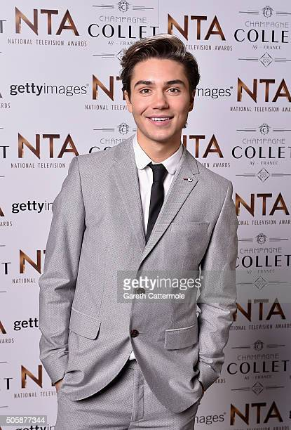 George Shelley attends the 21st National Television Awards at The O2 Arena on January 20 2016 in London England