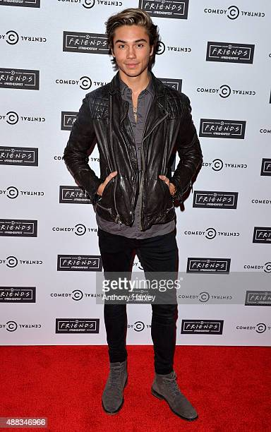George Shelley attends the launch of Friendsfest at The Boiler HouseThe Old Truman Brewery on September 15 2015 in London England