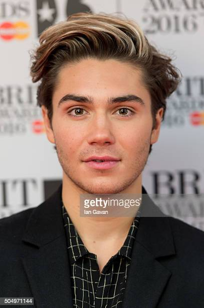 George Shelley attends the nominations launch for The Brit Awards 2016 at ITV Studios on January 14 2016 in London England