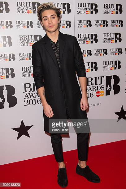 ONLY] George Shelley attends the nominations launch for The Brit Awards 2016 at ITV Studios on January 14 2016 in London England