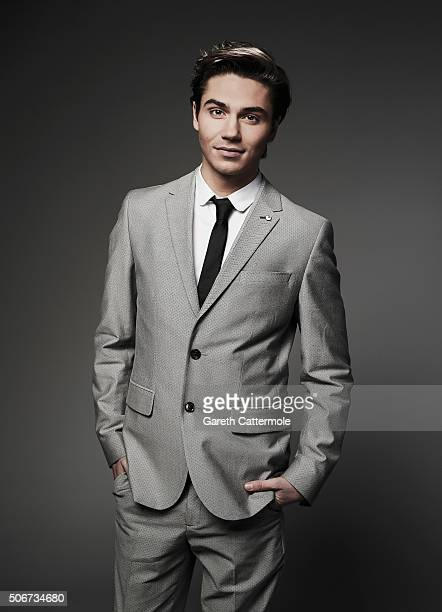 George Shelley poses in the Portrait Studio during the 21st National Television Awards at The O2 Arena on January 20 2016 in London England