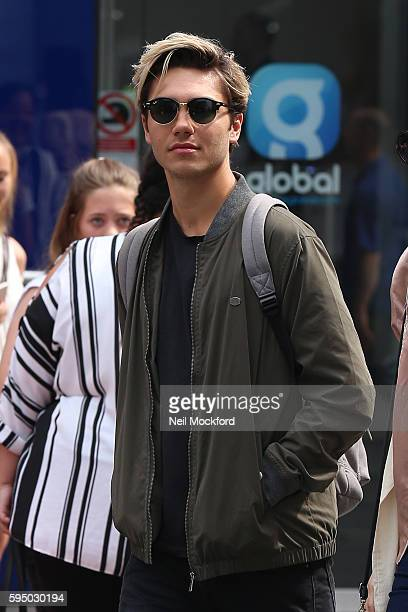 George Shelley seen at Capital Radio on August 25 2016 in London England