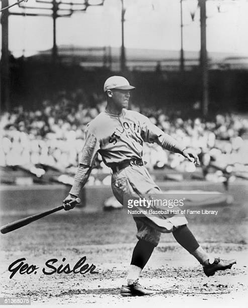 George Sisler swings the bat George Sisler played for the St Louis Browns from 1915 to 1927 In the 1920 season George Sisler had 257 hits