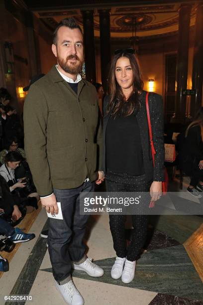 George Smart and Lisa Snowdon attend the Pam Hogg show during the London Fashion Week February 2017 collections at Freemasons Hall on February 19...