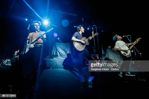 George Smith Blake Richardson and Reece Bibby of New Hope Club open for The Vamps at Alcatraz on May 22 2018 in Milan Italy