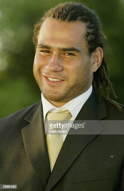 George Smith during the ACT Brumbies 2004 Super 12 rugby season launch at the National Museum of Australia on February 17 2004 in Canberra Australia
