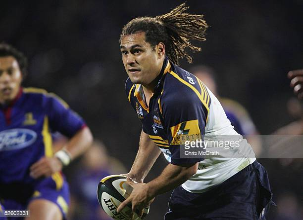 George Smith of the Brumbies in action during the Super 12 match between the Highlanders and the ACT Brumbies at Carisbrook April 8 2005 in Dunedin...