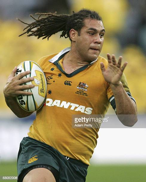 George Smith of the Wallabies in action during the Bundaberg Rum Test Series between the Australian Wallabies and Manu Samoa held at Telstra Stadium...