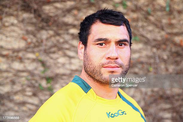 George Smith of the Wallabies poses following an Australian Wallabies media session at the Shangri la Hotel on July 4 2013 in Sydney Australia