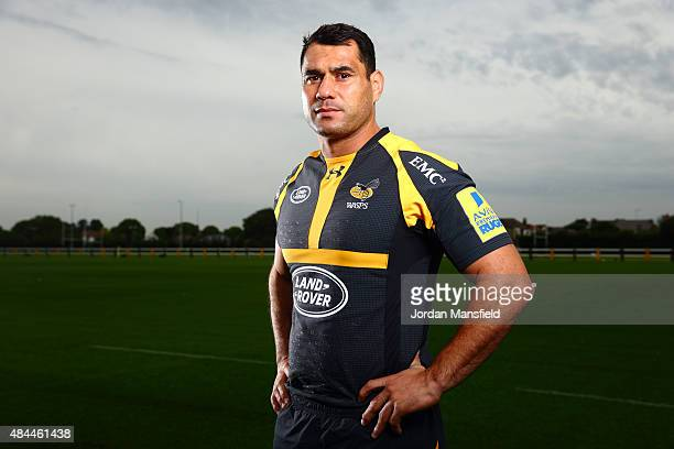 George Smith of Wasps poses for a portrait during a Wasps Media Session at Twyford Avenue Sports Ground on August 18 2015 in Acton England