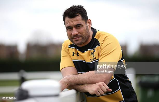 George Smith the Wasps flank forward poses during the Wasps media session held at Twyford Avenue training ground on April 18 2016 in Acton England