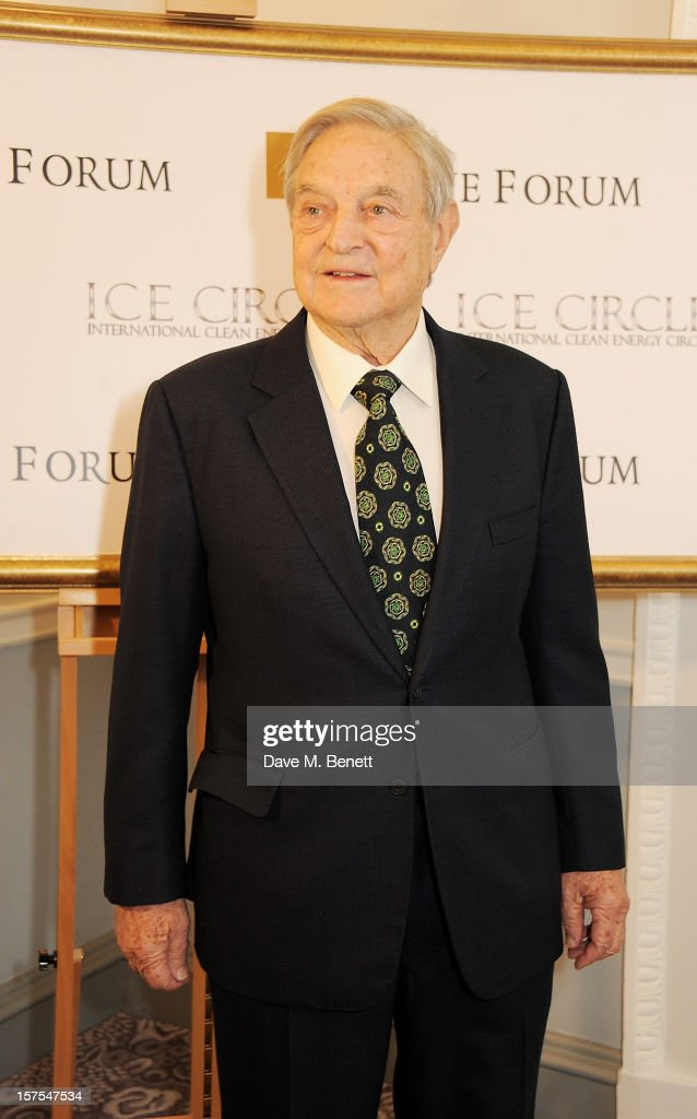 George Soros attends a cocktail reception at the 4th Fortune Forum Summit held at The Dorchester on December 4, 2012 in London, England.