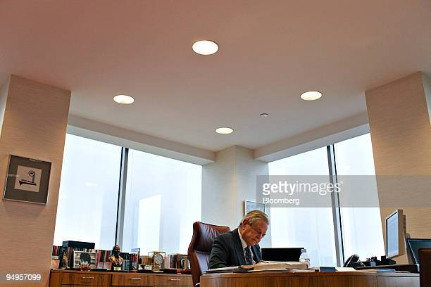 George Soros chairman and founder of Soros Fund Management LLC works in his office in New York US on Monday April 6 2009 Last week Soros said it's an...