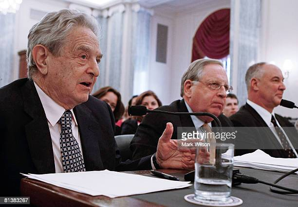 George Soros Chairman of the Soros Fund Management Michael Greenberger professor of the University of Maryland School of Law and Gerry Ramm president...