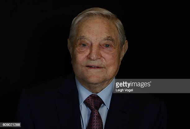 George Soros Found and Chair of Soros Fund Management and the Open Society Foundations poses for a portait during 2016 Concordia Summit which...