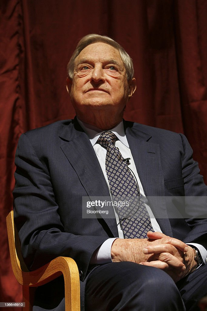Billionaire Investor George Soros Speaks At Public Lecture : News Photo