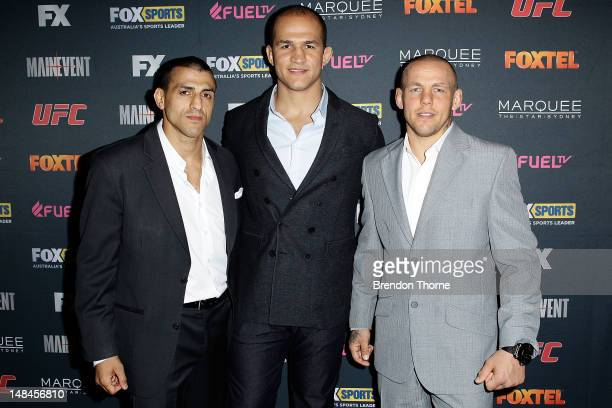 George Sotiropoulos Junior dos Santos and Ross Pearson arrive at the TUF Australia Launch Party on July 17 2012 in Sydney Australia