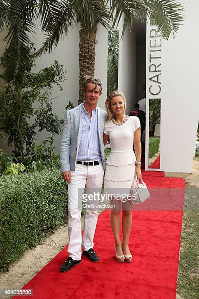 e5e6d5b67f5 George SpencerChurchill poses for a photograph with his girlfriend Camilla  Thorp on the final day of