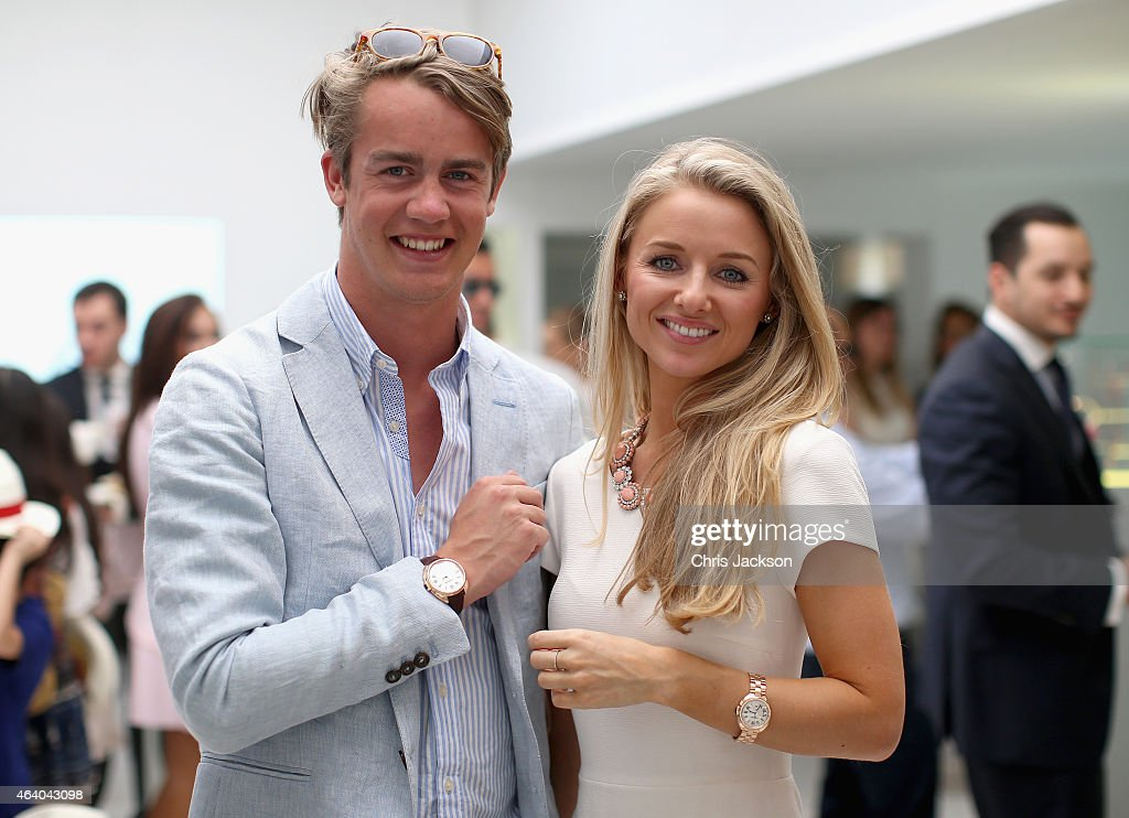 George Spencer-Churchill poses for a photograph with his girlfriend Camilla Thorp as they visit the Cartier Villa on the final day of the Cartier International Dubai Polo Challenge 10th edition at Desert Palm Hotel on February 21, 2015 in Dubai, United Arab Emirates. The event takes place under the patronage of HRH Princess Haya Bint Al Hussein, Wife of HH Sheikh Mohammed Bin Rashid Al Maktoum, Vice-President and Prime Minister of the UAE and Ruler of Dubai. The Cartier International Dubai Polo Challenge is one of the most prestigious happenings in Dubai's sporting and social calendar. On this occasion Cartier launched their latest watch creation Cle De Cartier.
