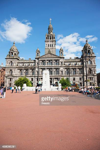 george square, glasgow - theasis stock pictures, royalty-free photos & images