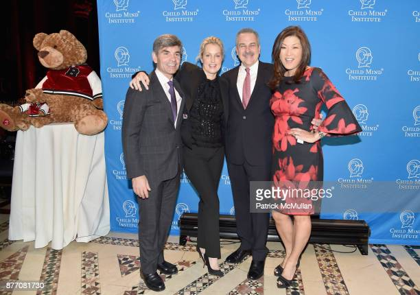 George Stephanopoulos Alexandra Wentworth and Dr Harold Koplewicz attend the Child Mind Institute 2017 Child Advocacy Award Dinner at Cipriani 42nd...