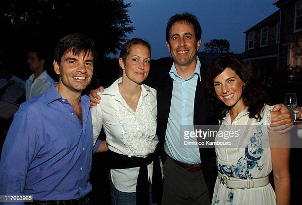 George Stephanopoulos Alexandra Wentworth Jerry Seinfeld and Jessica Seinfeld