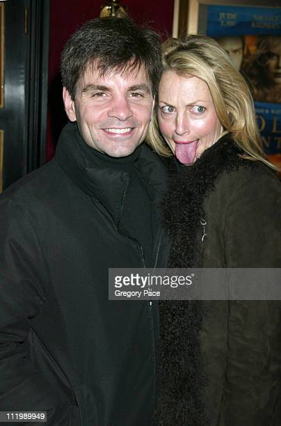 George Stephanopoulos and Alexandra Wentworth during Cold Mountain New York Premiere Inside Arrivals at The Ziegfeld Theater in New York City New...
