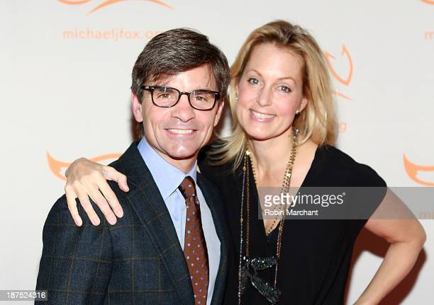 George Stephanopoulos and Ali Wentworth attend 2013 A Funny Thing Happened On The Way To Cure Parkinson's at The Waldorf=Astoria on November 9 2013...