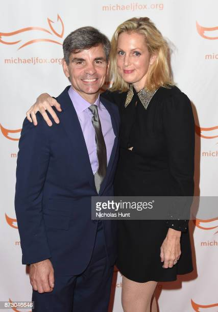 George Stephanopoulos and Ali Wentworth on the red carpet of A Funny Thing Happened On The Way To Cure Parkinson's benefitting The Michael J Fox...