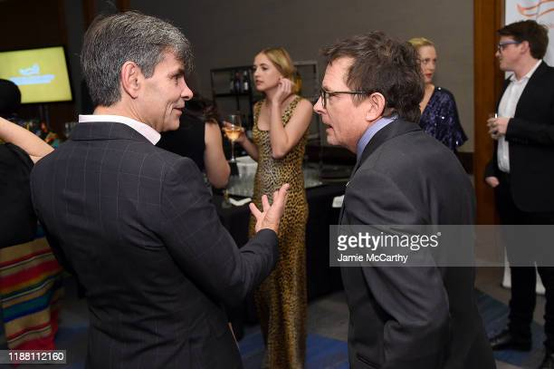 George Stephanopoulos and Michael J Fox attend A Funny Thing Happened On The Way To Cure Parkinson's benefitting The Michael J Fox Foundation on...