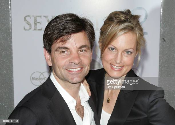 George Stephanopoulos and wife Ali Wentworth attend the premiere of 'Sex and the City 2' at Radio City Music Hall on May 24 2010 in New York City