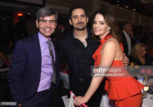 Brad paisley pictures and photos getty images george stephanopoulos brad paisley and kimberly williams paisley on the red carpet of a funny thing m4hsunfo