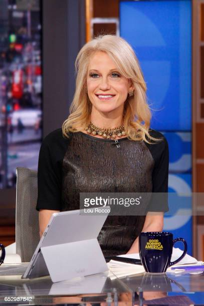 AMERICA George Stephanopoulos interviews Kellyanne Conway on 'Good Morning America' Monday March 13 airing on the ABC Television Network KELLYANNE