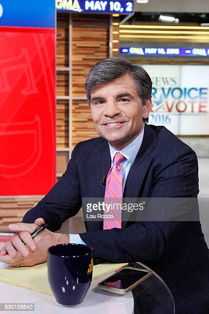 AMERICA George Stephanopoulos on Good Morning America 5/10/16 airing on the Walt Disney Television via Getty Images Television Network GEORGE
