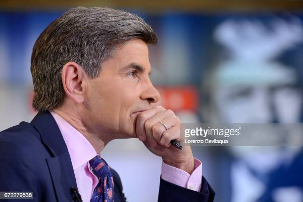 AMERICA George Stephanopoulos on Good Morning America Monday April 24 2017 airing on the Walt Disney Television via Getty Images Television Network...